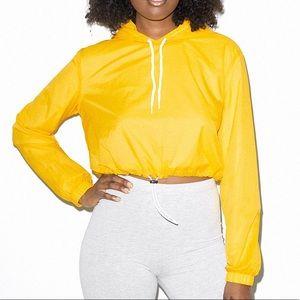 American Apparel Women's Nylon Cropped Hoodie